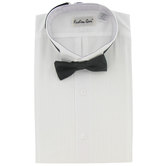 Tuxedo Shirt With Black Bow Tie - 2XL